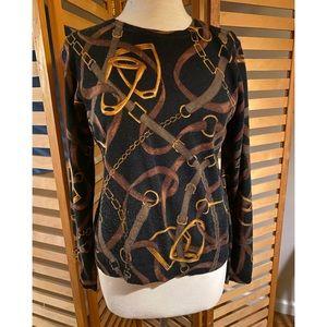 Lauren Ralph Lauren equestrian silk/cashm sweater